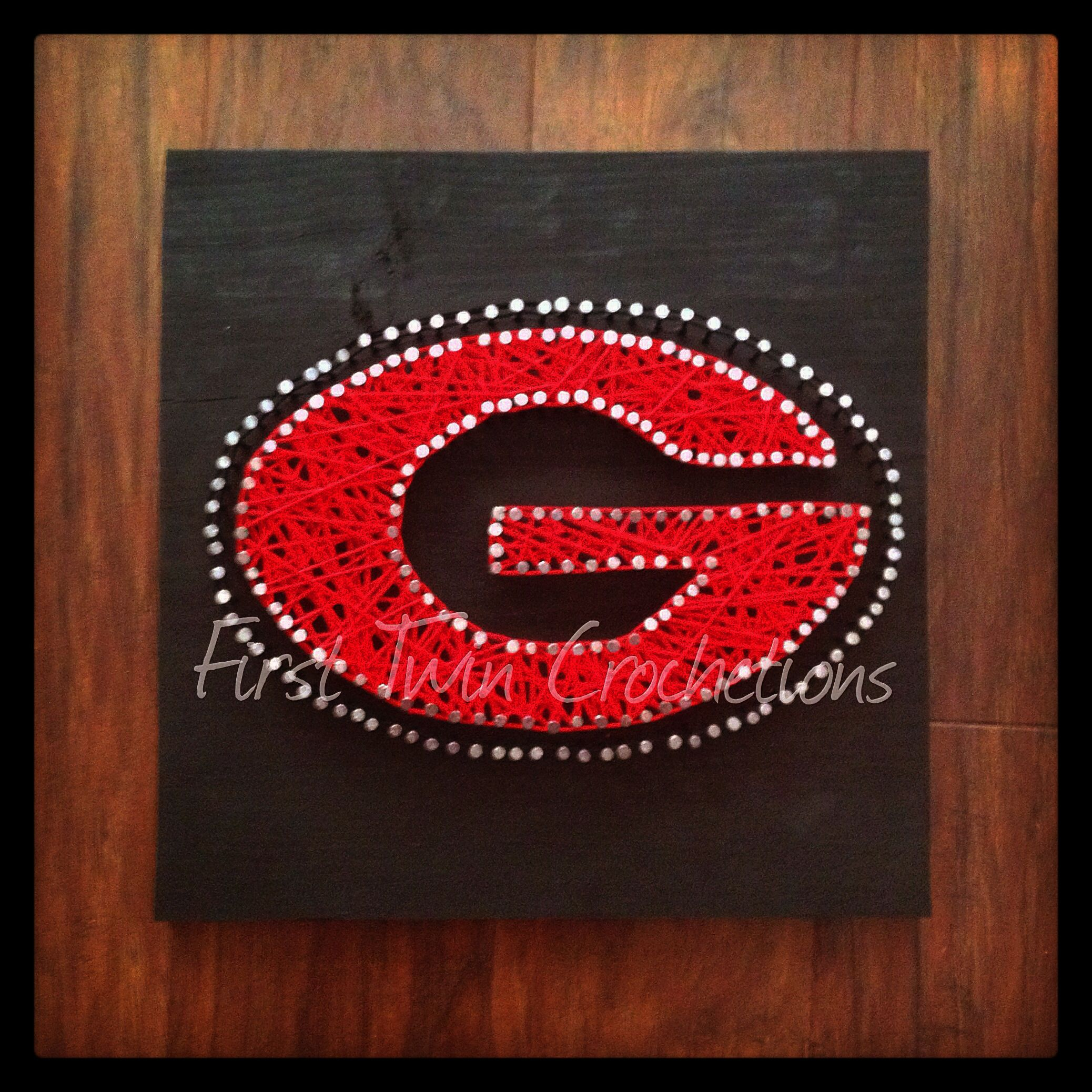 UGA Football String Art Home Decor By First Twin Co