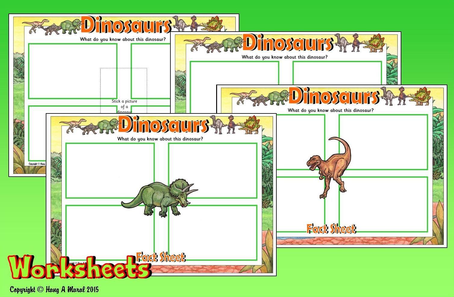 Dinosaurs Worksheets Free Sample Download At Hang A