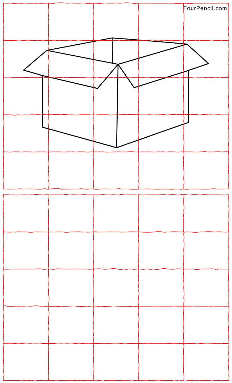 Free printable Package grid line drawing worksheet for kids | Art ...