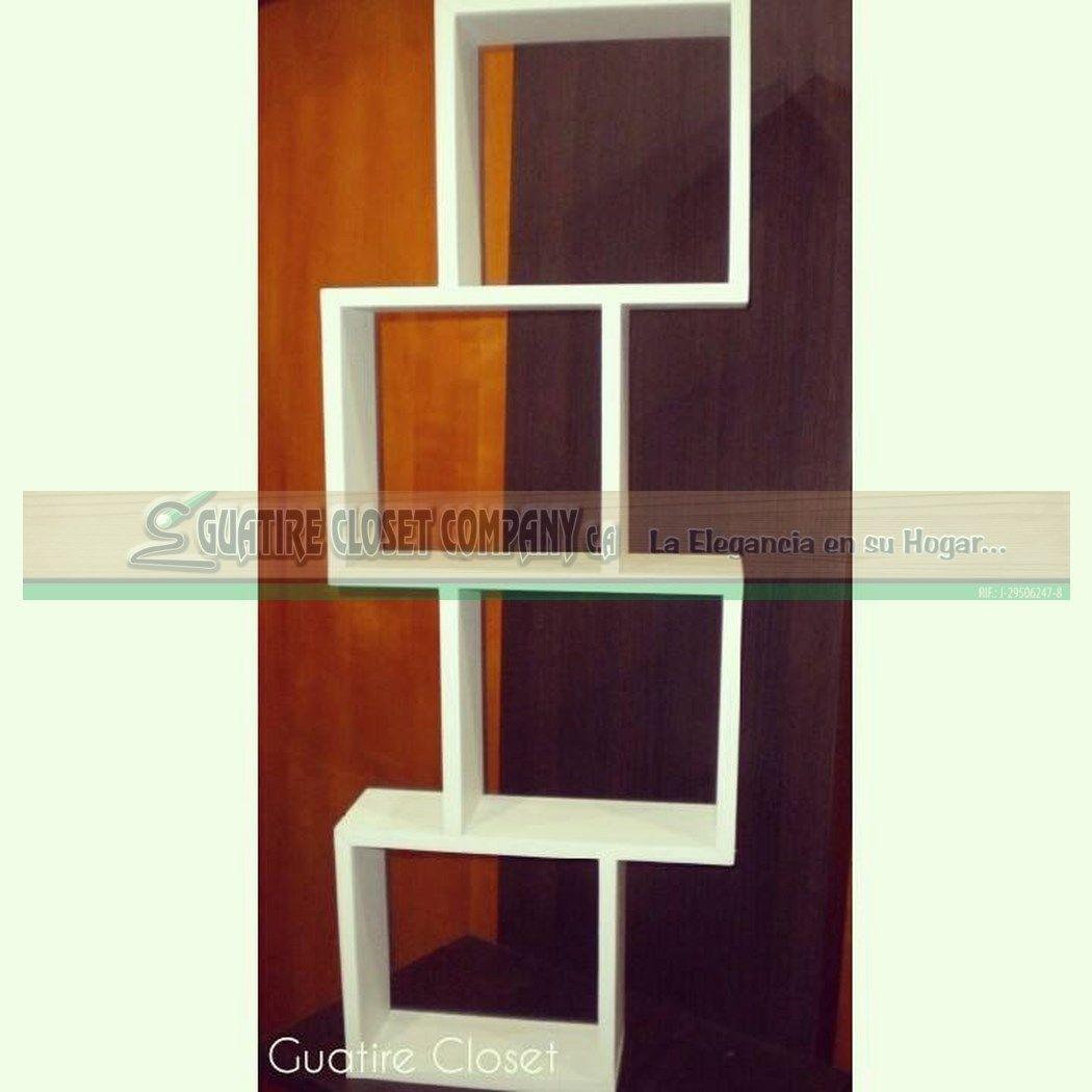Repisa Q-Box No. 2 Elaborada de Melamina en variedad de colores.