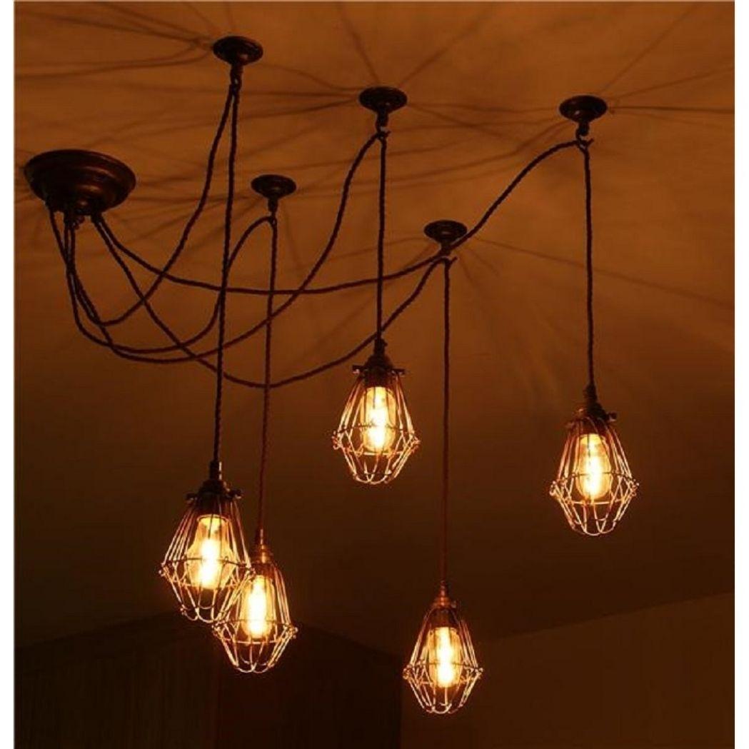 Interior Design Industrial Looking Lighting Creative Drawing