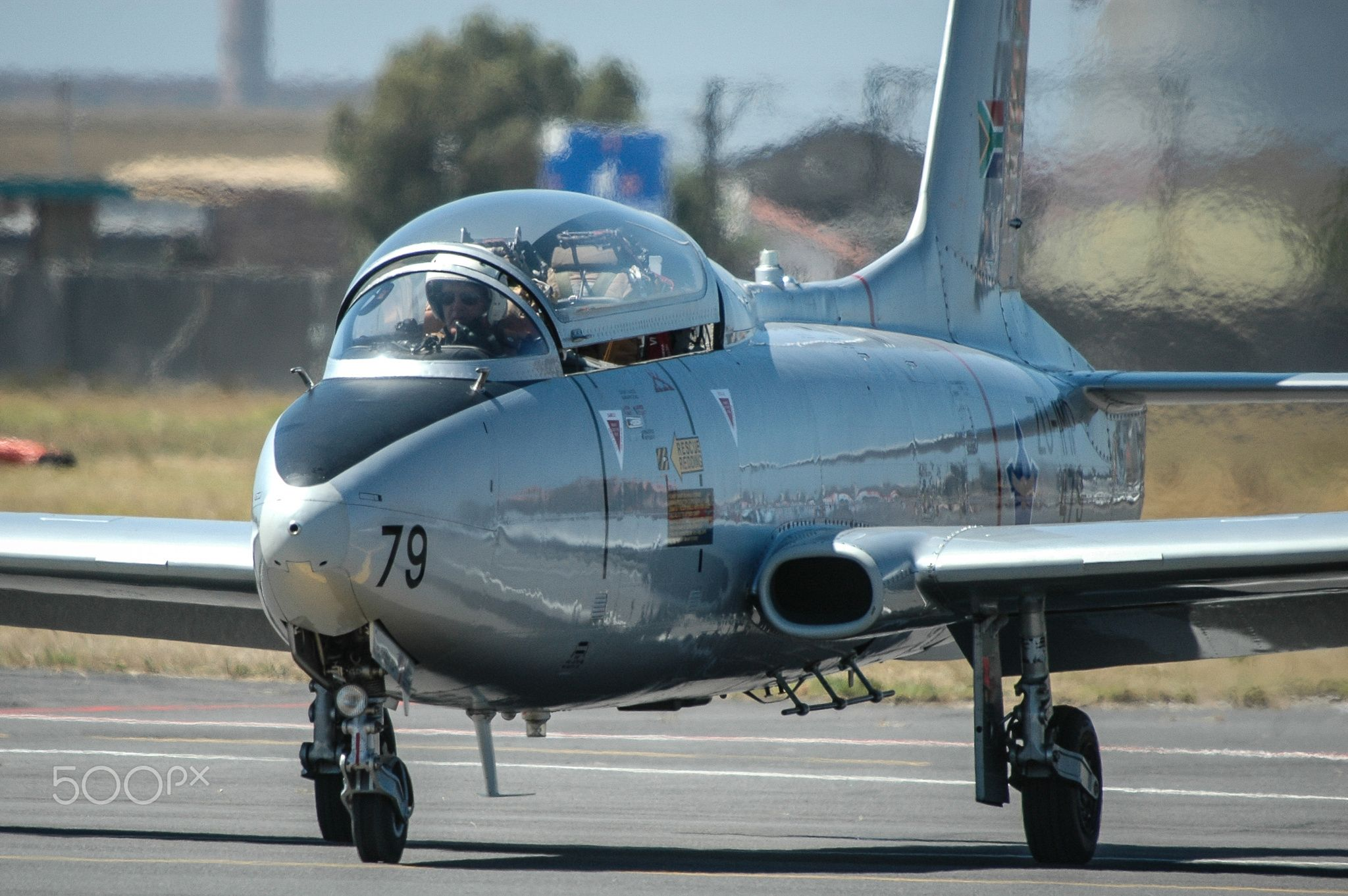 Impala Taxiing Aermacchi MB326 South african air force