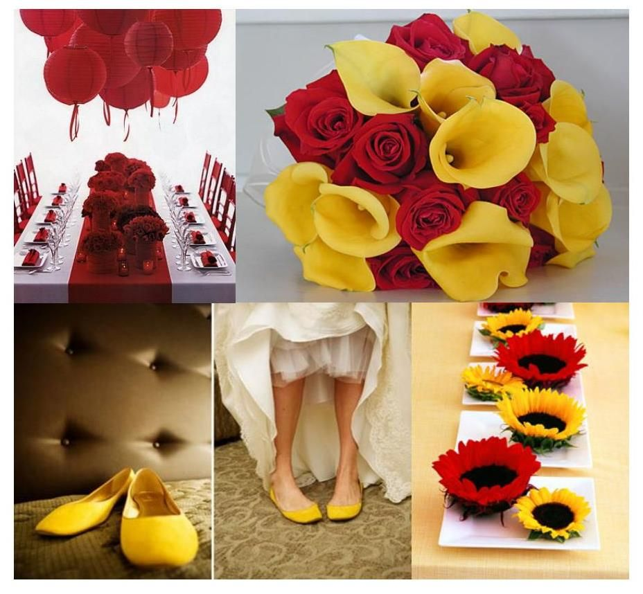 Red Yellow Weddings Bad Wedding Color Schemes