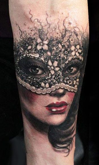 Mask Tattoo By Anabi