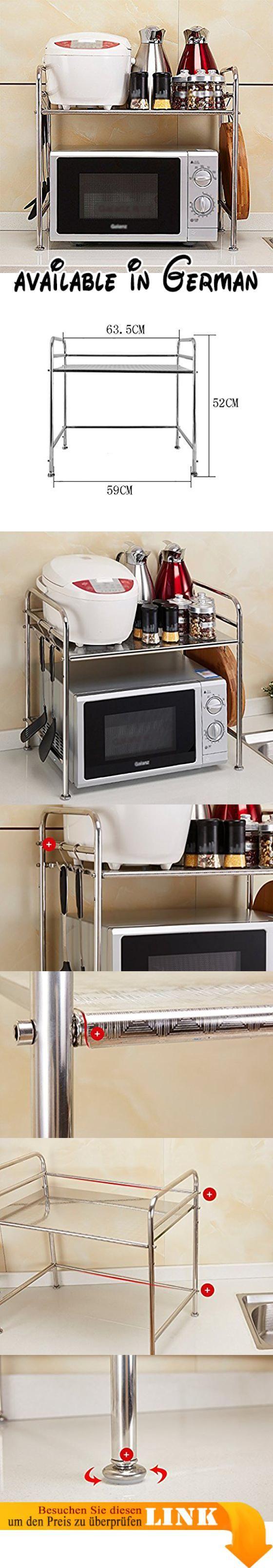 B078V5DR9W : Küche Regal Mikrowelle Ofen Rack Ofen Doppel - Layer ...