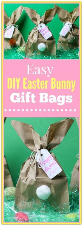 Easy diy easter bunny gift bags negle Images
