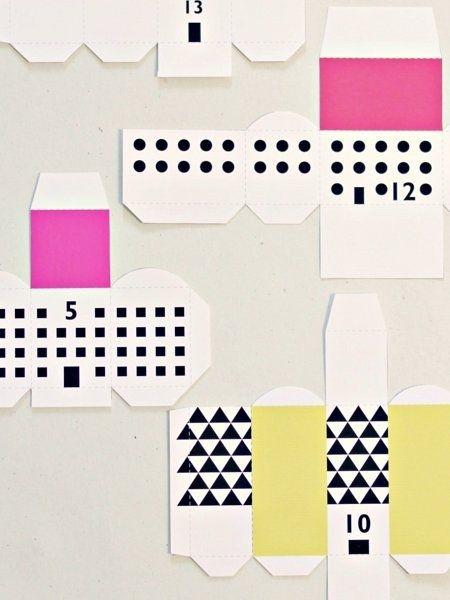 adventskalender ideen vorlagen boxen kleines dorf. Black Bedroom Furniture Sets. Home Design Ideas