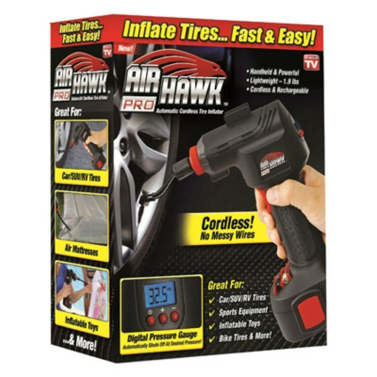 Easily inflate tyres, toys, sporting equipment, air