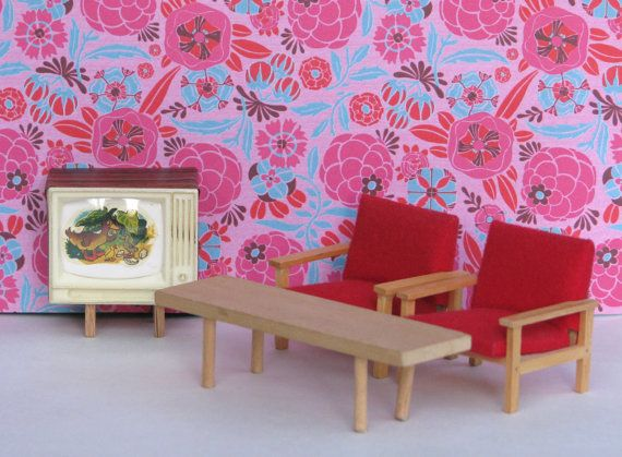 Reserved listing for Virginia Petty - Doll house vintage living room ...