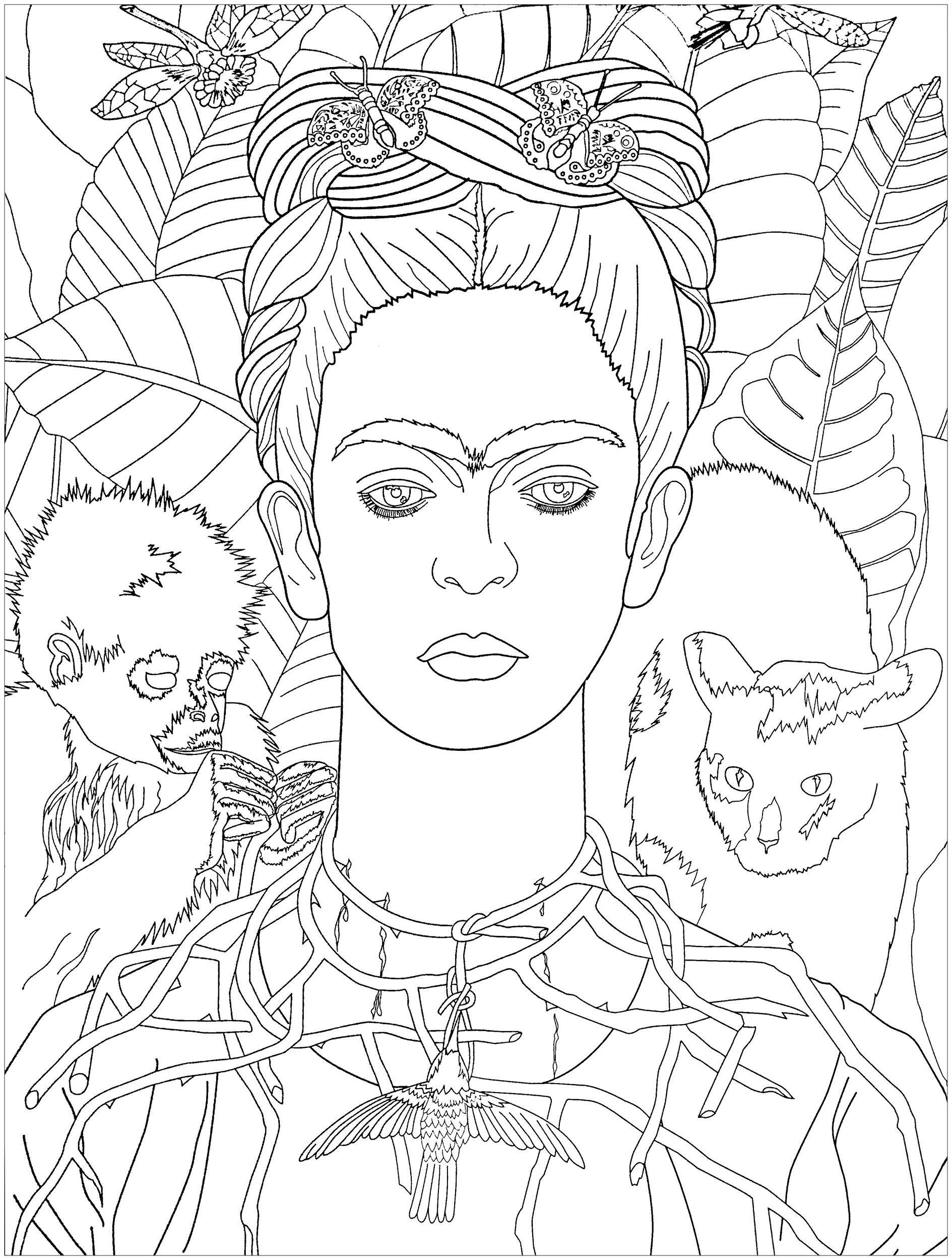 Colorear para adultos : Arte - 1 - Esta imagen contiene : Fernand ...