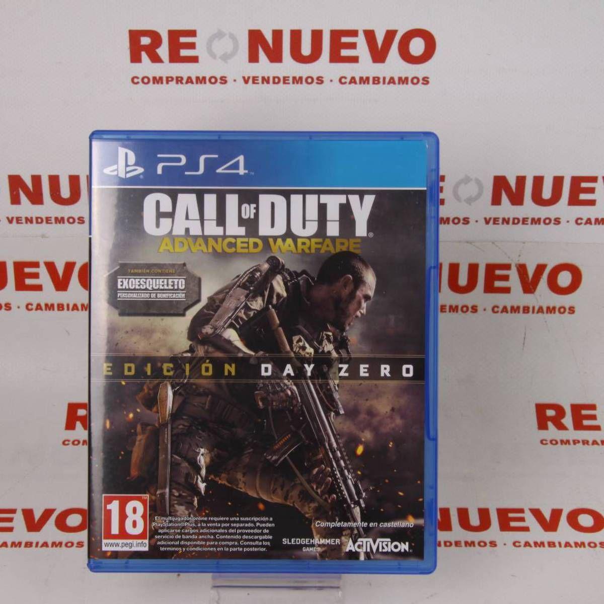 Videojuego PS4 CALL OF DUTY ADVANCE WARFARE E270443 # Videojuego Call of Duty Advance Warfare# de segunda mano # PS4