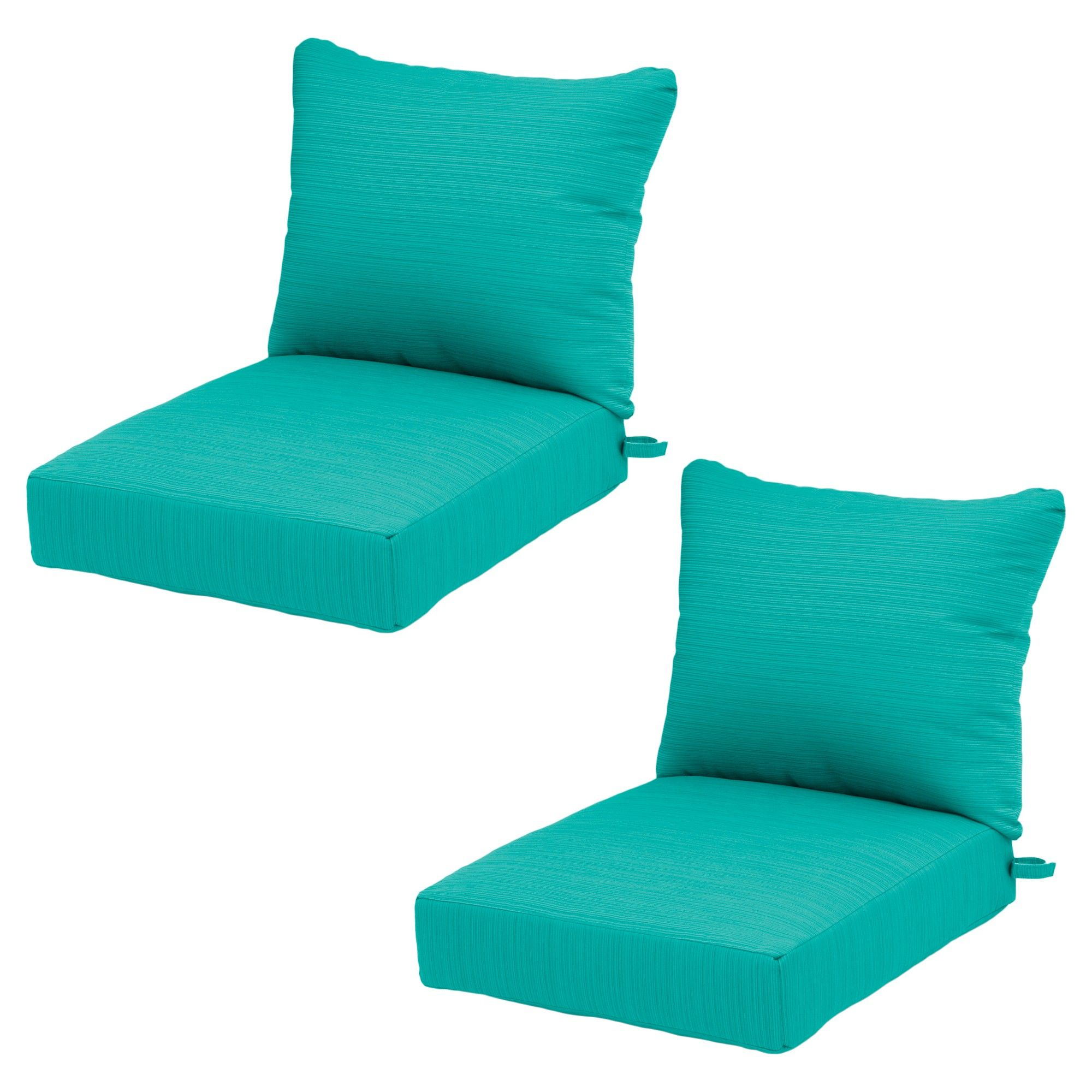 Ft. Walton 4pc Outdoor Deep Seat/Back Cushion   Turquoise   Threshold