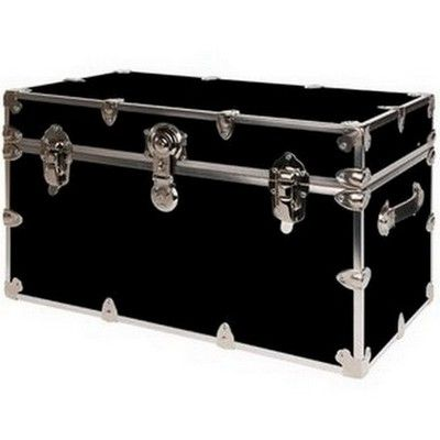 Storage Trunks For College Gorgeous Rhino Armor Trunk Jumbo Black  Dorm Room Dorm And Room Inspiration