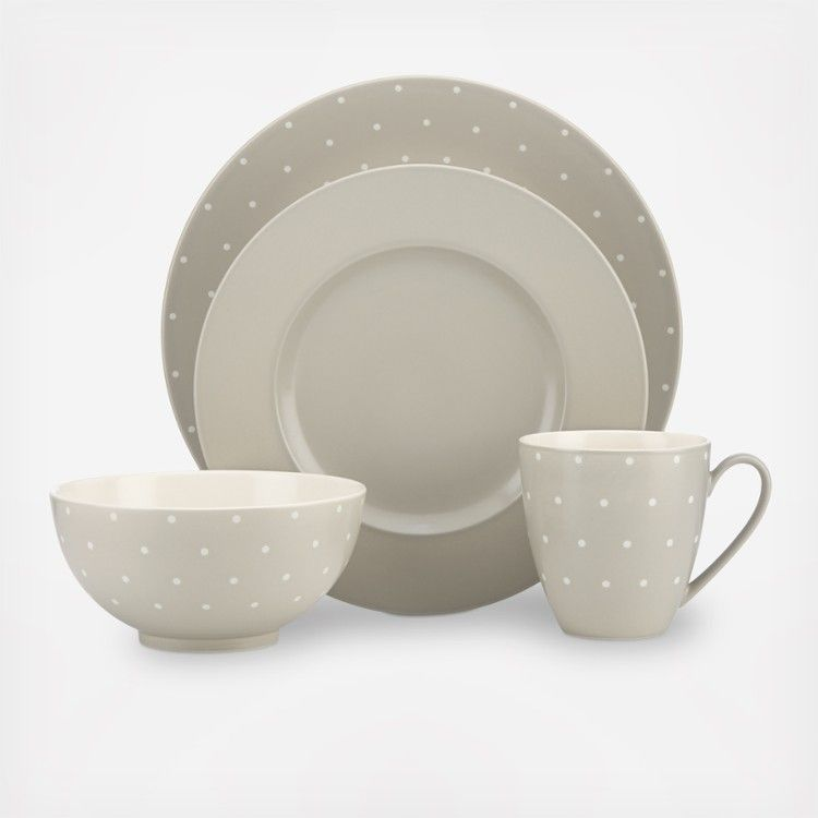 A dinnerware assortment of solids and spots from kate spade new york, perfect…