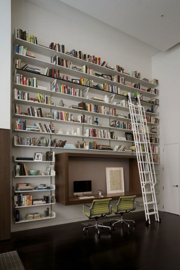 Captivating Valuable Libraries In Small Spaces As The Quiet Room For Reading: Modern  Home Libraries In