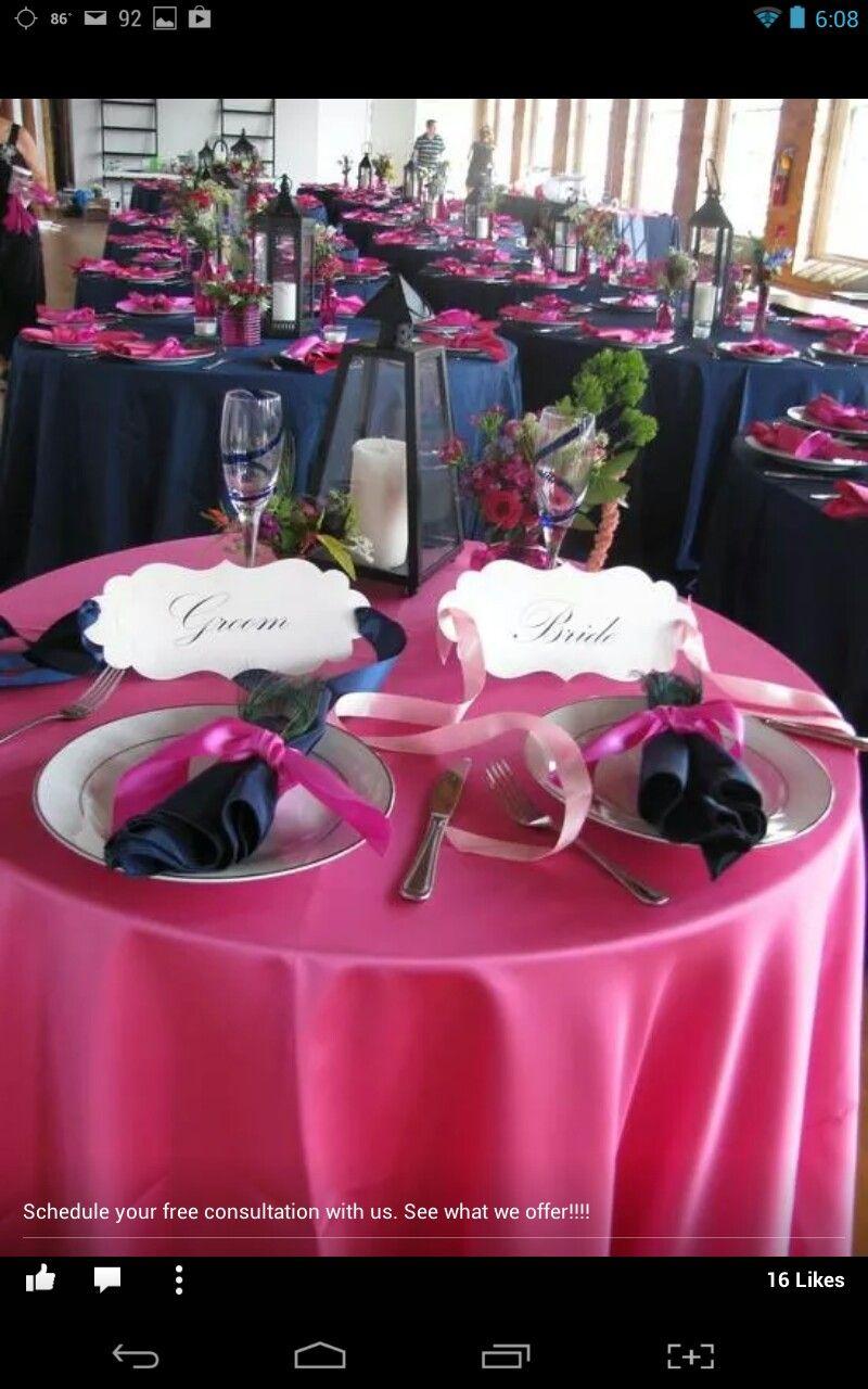 Pin By Tonya Willaims On Reception Ready Fuchsia Wedding