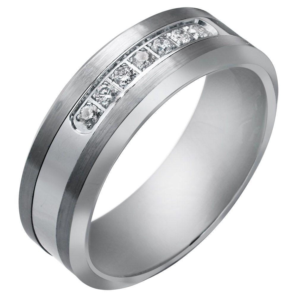 Best Selected White Gold Stony Engagement & Wedding Rings For Mens ...