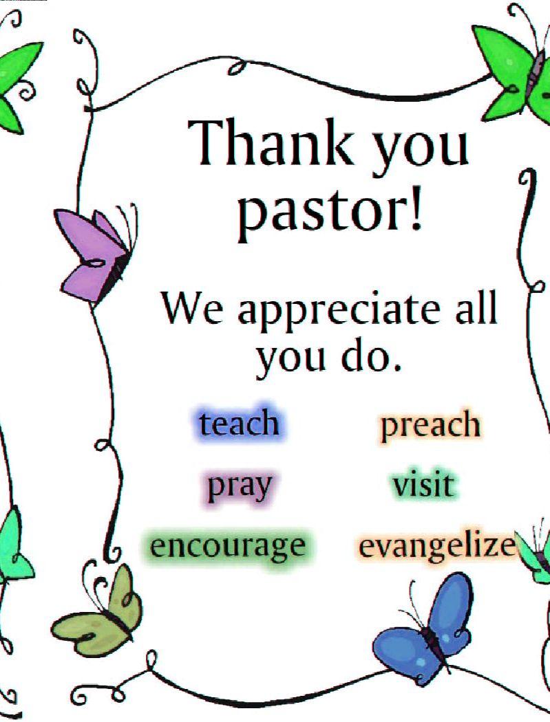 Pastor Thank You Thank You Pastor Thank You Pastor Pastor