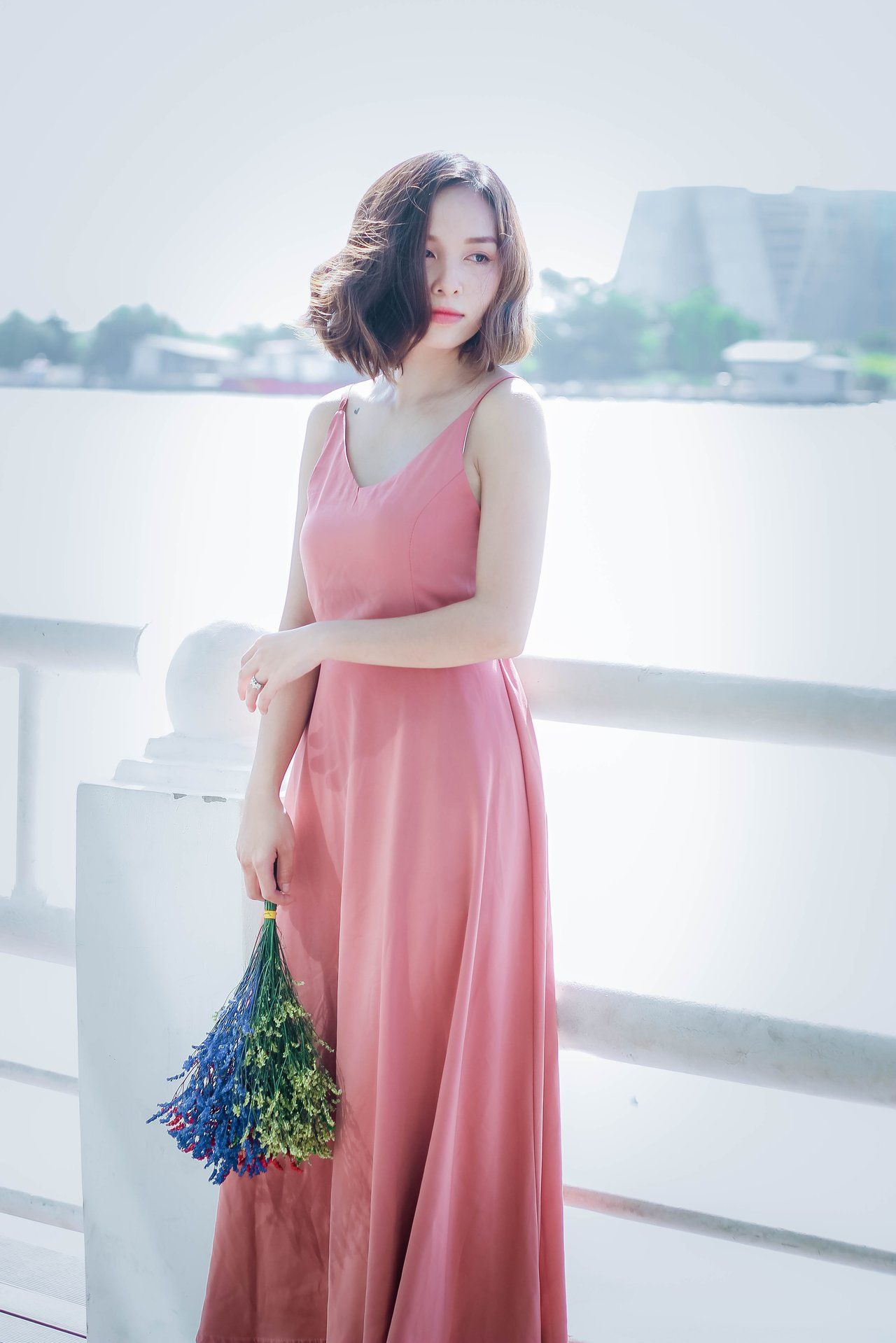 Sleeveless Pink Dress | DB Women