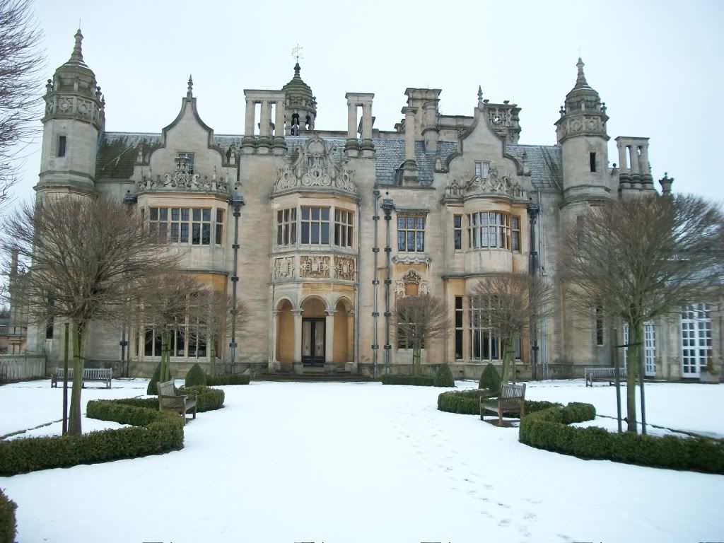 The Manor in Snow (Harlaxton Manor)