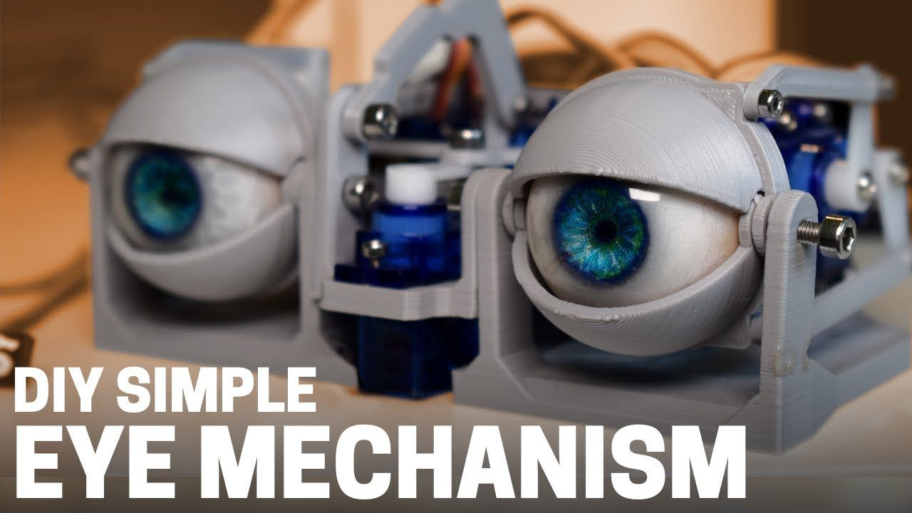 How To Build A Simple 3d Printed Arduino Animatronic Eye Mechanism Youtube Arduino 3d Printing Arduino Projects Diy