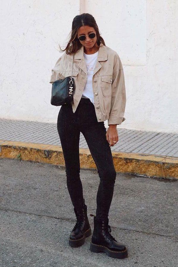 Maria Valdes  calça e coturno  coturno  inverno  street style