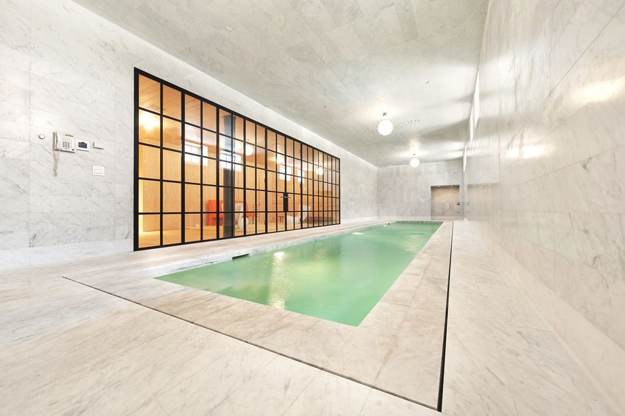 Pool inside all-marble NYC apartment | ~Travel-Vacation~ | Pinterest ...
