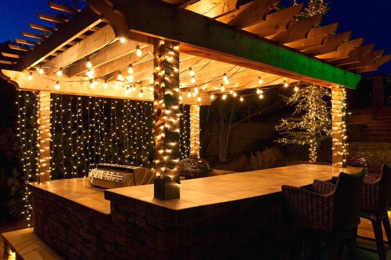 covered patio lights diy outdoor