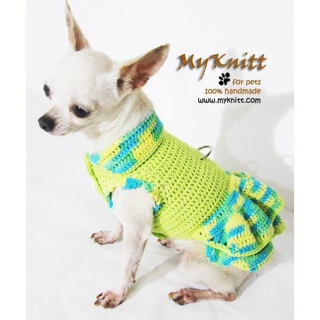 Cute Dog Dress Pet Clothing Rustic Puppy Clothes Yorkie Handmade ...
