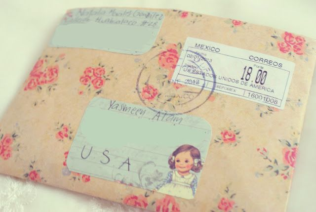 | ✉ - - Little Postal Travels >> Incoming: Natalia from Mexico- - ✈ |