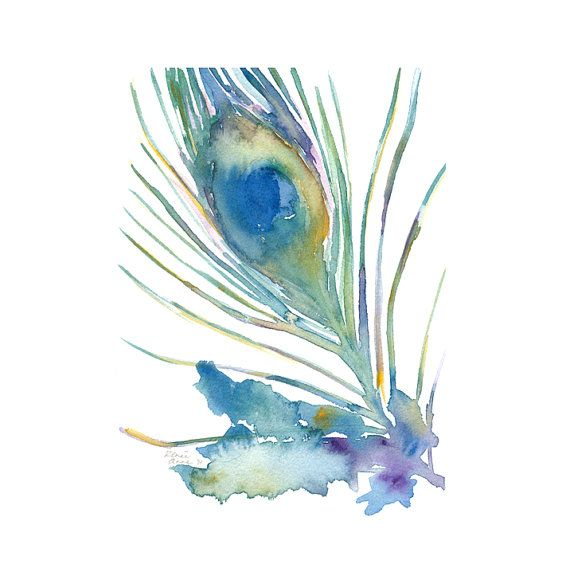 diy peacock feather painting
