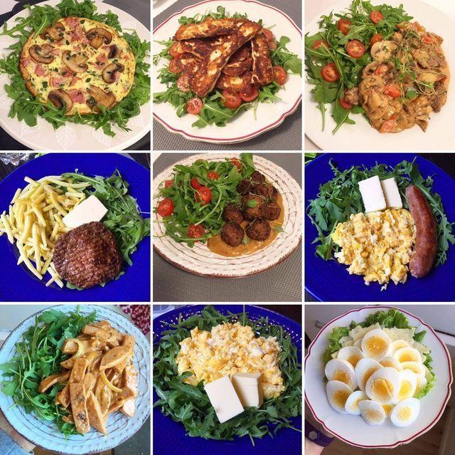vegetarisk lchf veckomeny