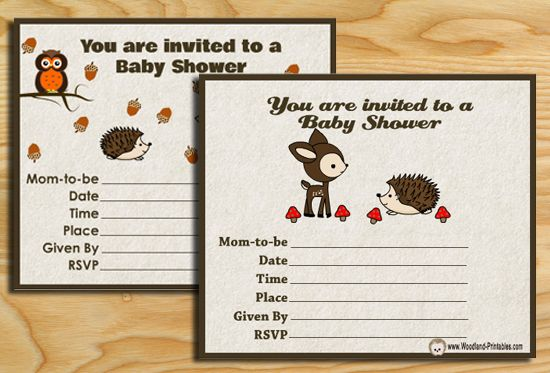 picture regarding Free Printable Woodland Baby Shower Invitations called Totally free Printable Woodland Boy or girl Shower Bash Invites