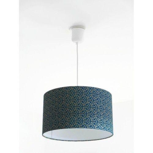 lustre suspension plafonnier abat jour g om trique art. Black Bedroom Furniture Sets. Home Design Ideas