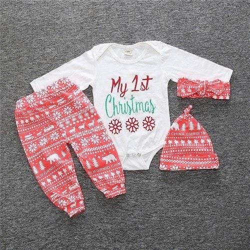Baby girl clothing set style baby suit long-sleeved romper + pants + hat  3pcs newborn baby clothes c84ffcf5d35b