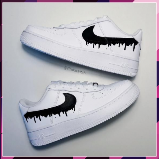 Dripping Paint Air Force 1 Custom Sneakers in 2020