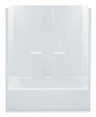 Aquatic Tub & Shower 2603SGM 60x32x74 Smooth Wall Finish - White