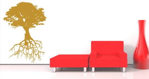 Roots wall decals for home and office.  Visit this link for more designs: https://limelight-vinyl.myshopify.com/