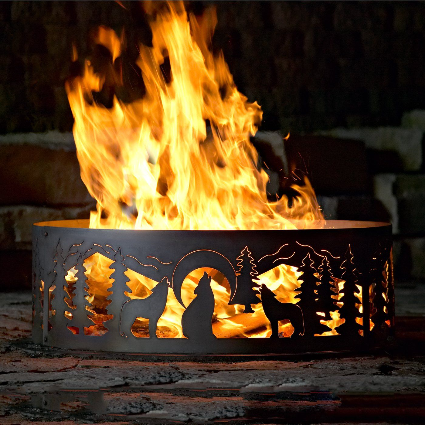 shop p d metal works wr004 wolves ring fire pit at atg stores