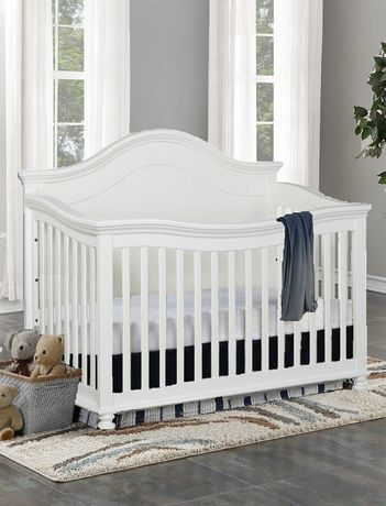 Concord Baby Brayden 4 In 1 Baby Crib W White Baby Cribs Baby
