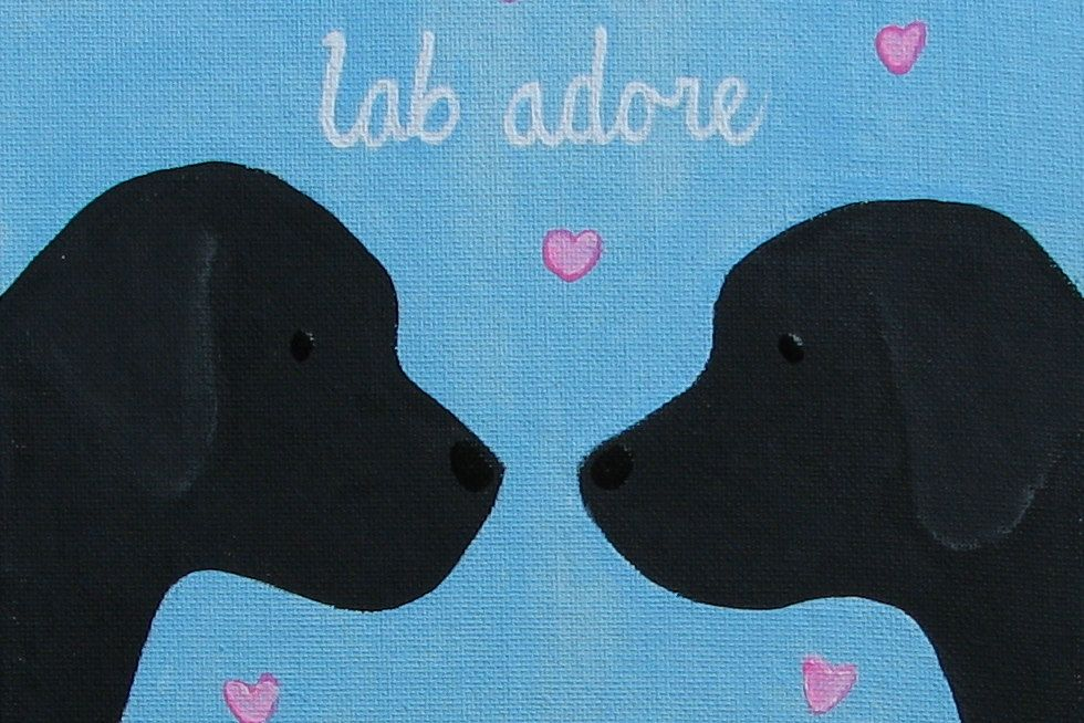 Sale Black Labrador Retriever Puppy Dog Love Lab Adore Painting Black Labrador Retriever Labrador Retriever Puppies Labrador Retriever