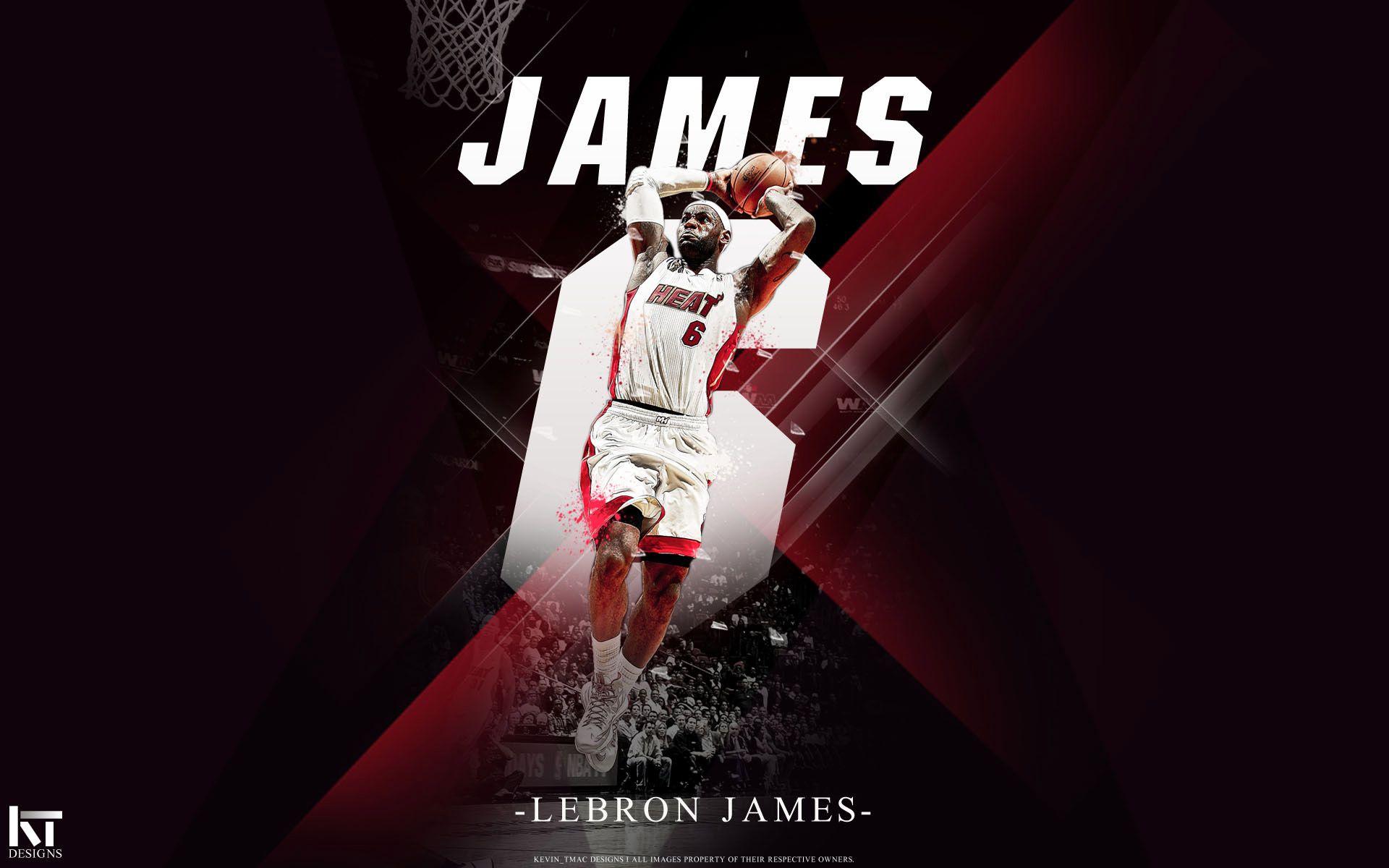 Free 64 Wallpapers LeBron James Miami Heat Dunk
