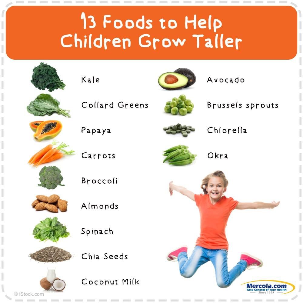Foods To Grow Taller Fast