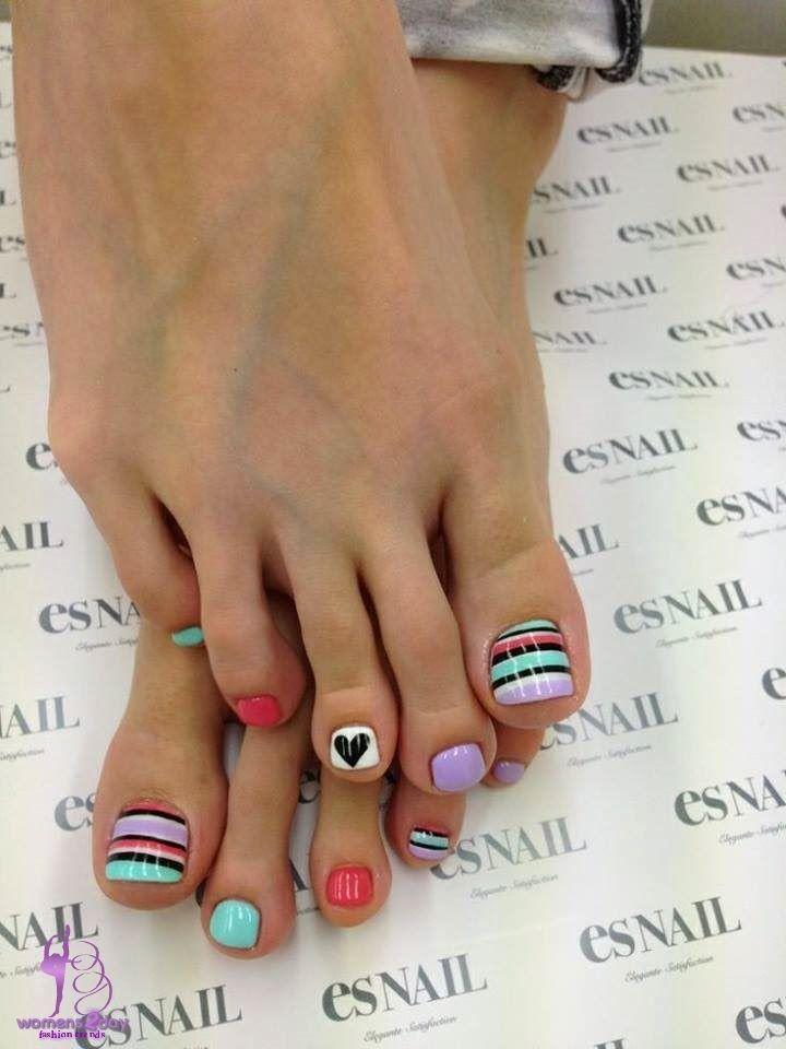 Toe Nail Art Designs Ideas For Girls Summer 2014 Makeup