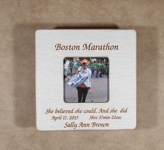 Boston Marathon Runner Gift-Marathon Finisher Personalized Picture ...