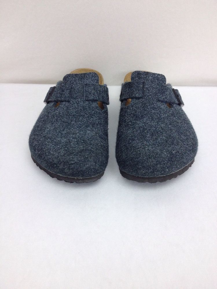 Nice Birkenstock Germany Made Gray Size 42 270 Wool Felt Clog Shoes  #Birkenstock #Clogs