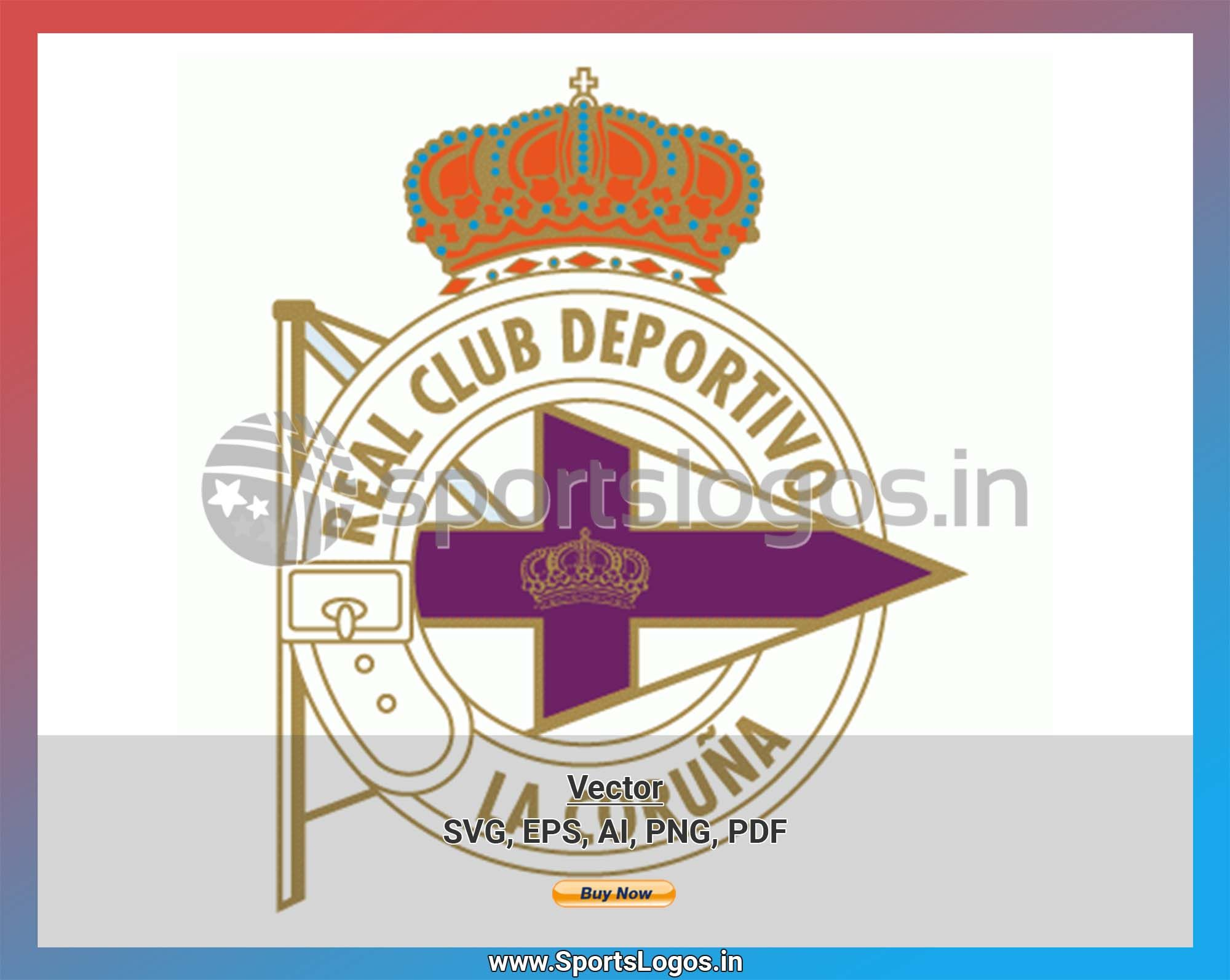 Deportivo La Coruna Soccer Sports Vector SVG Logo in 5