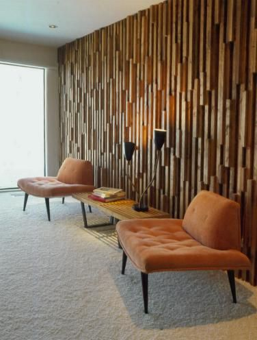 Love The Wood On Wall Ive Seen This Effect Done Divine Design Before Cool