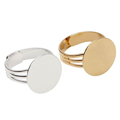Make Beautiful Costume Jewelry Rings For Yourself Or As Gifts For Your Friends Our Ring Blanks Have A Gorge Diy Rings Adjustable Rings Earring Making Supplies