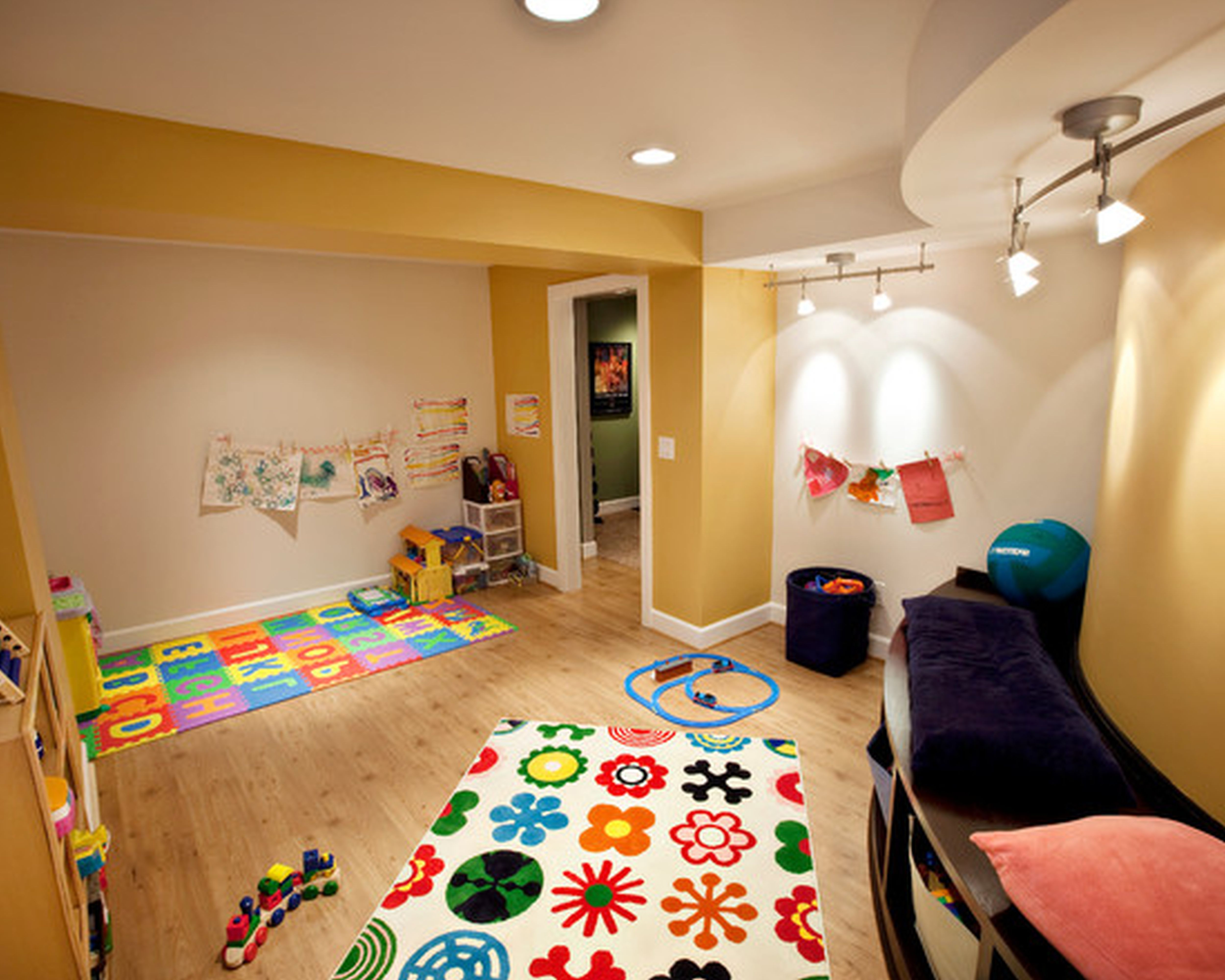 Playroom Ideas For Girls And Boys Indoor Play Basements   Inspirational  Playroom Ideas For Girls And Boys Indoor Play Basements, Unfinished Basement  ...
